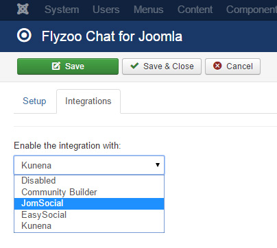Add a group chat to Joomla