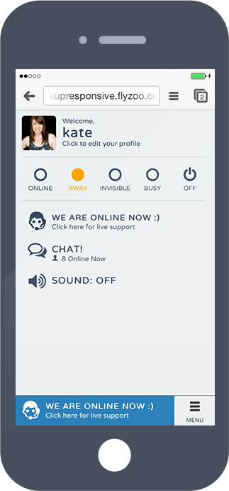 Responsive chat on mobile devices